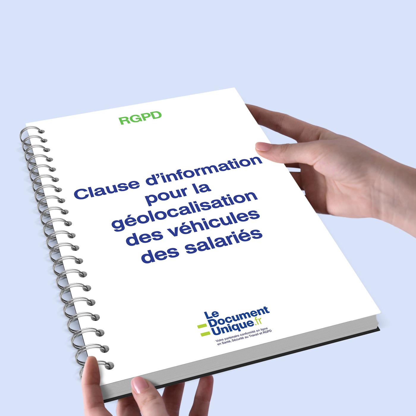 clause d'information pour la géolocalisation des véhicules des salariés