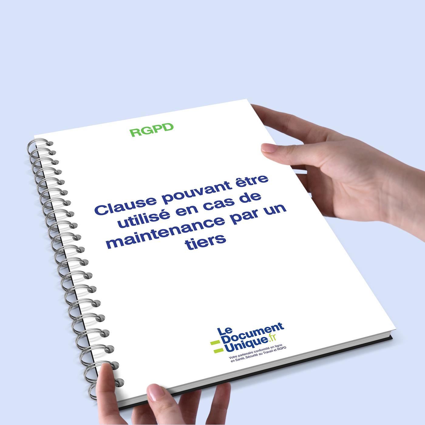 clause rgpd pouvant être utilisé en cas de maintenance par un tiers