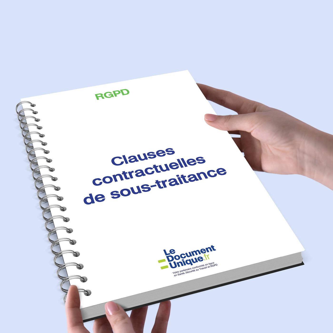 clauses contractuelles de sous-traitance conformes rgpd