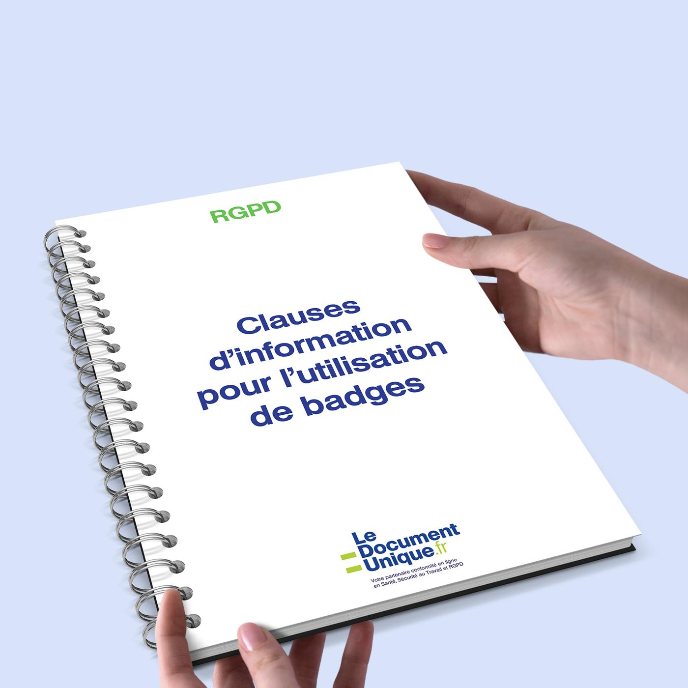clauses d'information pour l'utilisation de badges conformes rgpd