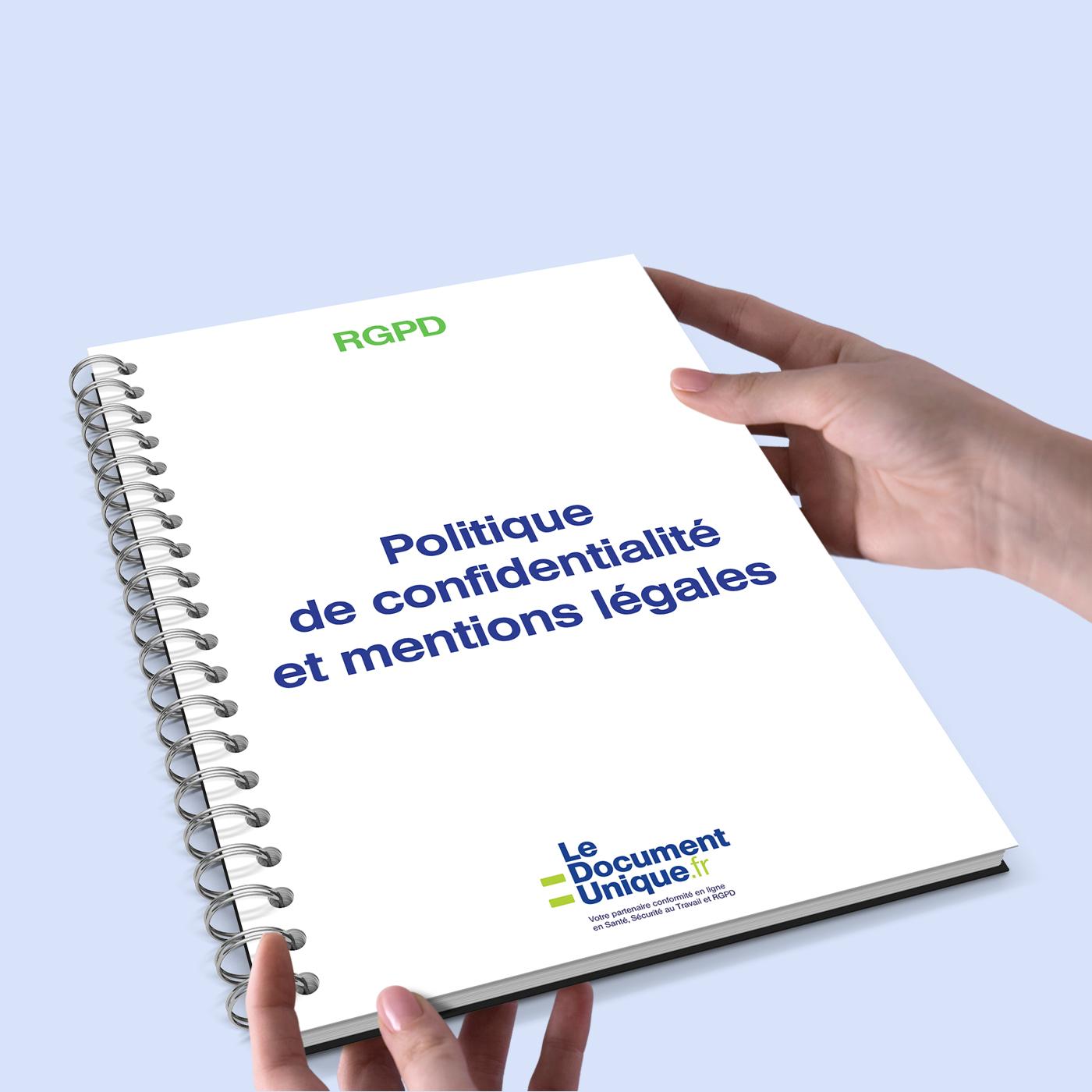politique de confidentialité et mentions légales conformes rgpd
