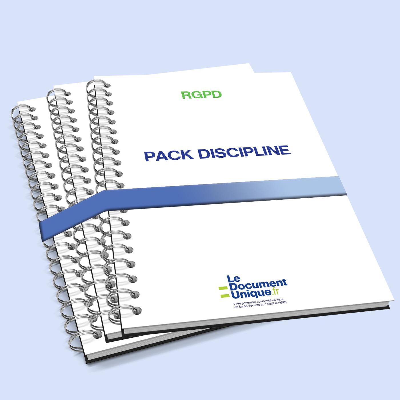 Pack discipline pour être conforme RGPD